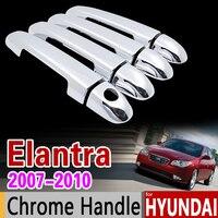 For Hyundai Elantra 2007 2010 HD Chrome Handle Cover Trim Set 2008 2009 Elantra Blue Avante