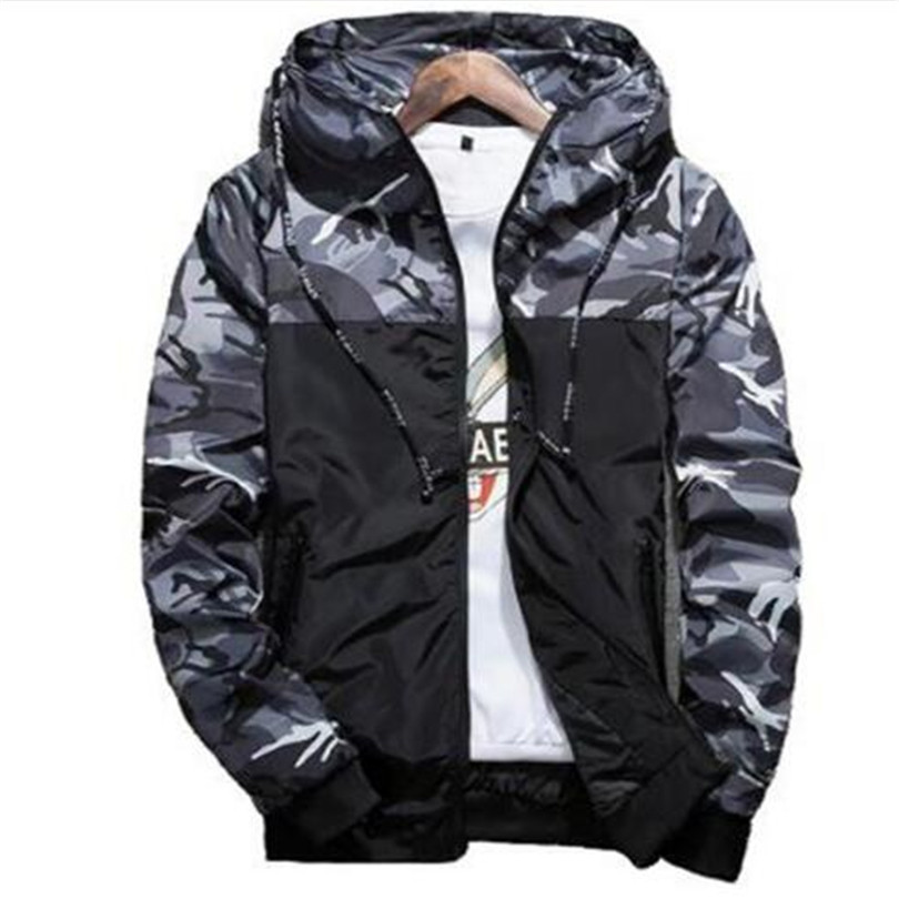Spring Autumn Mens Casual Camouflage Hoodie Jacket Men Waterproof Clothes Men's Windbreaker Coat Male Outwear 3