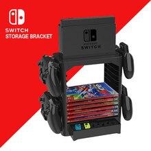 Soporte de almacenamiento multifunción para Nintendo Switch NS, soporte de torre para tarjeta de disco de juego, Switch