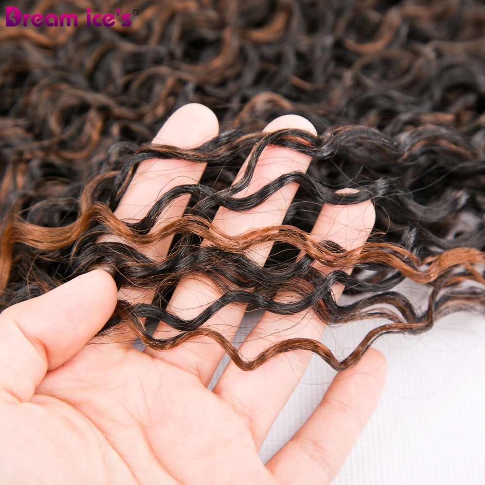 Dream ice's high temperature Afro kinky curly hair bundles synthetic weave hair 6 pieces/lot for a head