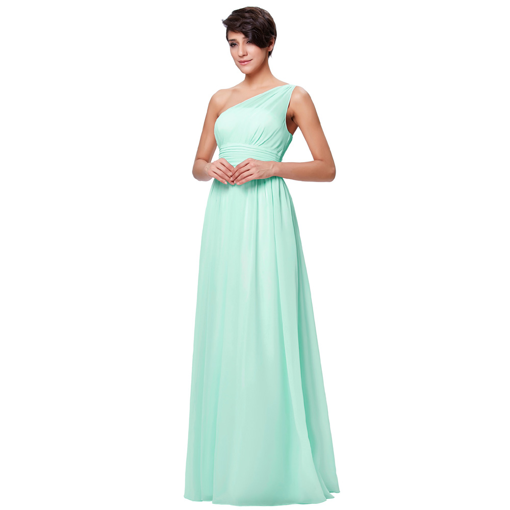 4dc163bdc038 Kate Kasin Mint Green Bridesmaid Dresses Long Wedding Party Dresses One  Shouler Bruidsmeisjes Jurk Pink Bridemaid Dress 0200-in Bridesmaid Dresses  from ...