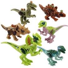 Dinosaurs Jurassic World Figures Building Blocks Tyrannosaurus Assemble Bricks Classic LegoINGS Kids Toys Gifts BKX31