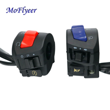 MoFlyeer Motorcycle 22mm Handlebar Left Right Switches Horn Turn Signal Headlight Electric Start Controller