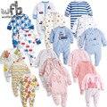 Детские комбинезоны с длинными рукавами и рисунком для мальчиков и девочек  3 шт./упак.  От 0 до 12 месяцев  розничная продажа