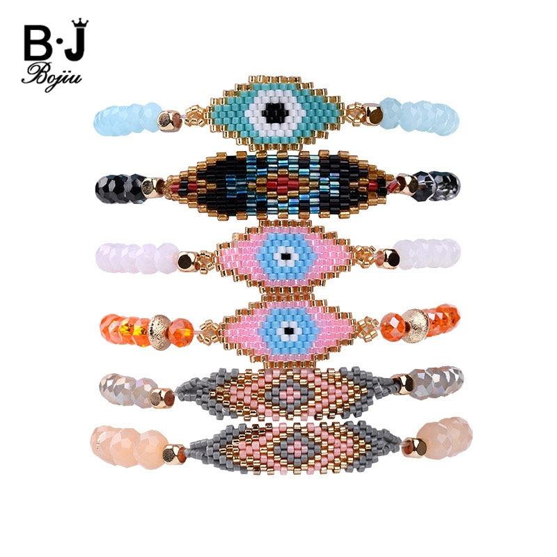 Evil Eye New Fashion Blue Evil Eye Bead Bracelet Geometric Metal Trendy Fashion Eye Bead Bracelet For Woman Man Festival Gift Charm Bracelets Jewelry & Accessories