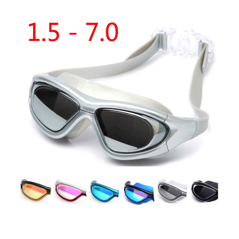 2018 Adultes lunettes De Natation myopie Plongée masques Anti-Brouillard  Sport Grand cadre De Natation lunettes Degré Étanche De Natation lunettes 05735e57af32