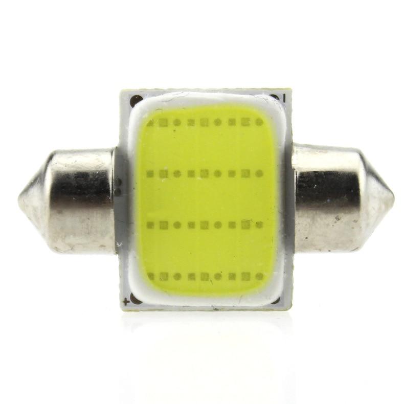 50pcs/lot 31mm/36mm/39mm/41mm C5W PLASMA COB LED White interior SMD Bulb DC12V Super Bright Car Light Source Dome Head Lamp