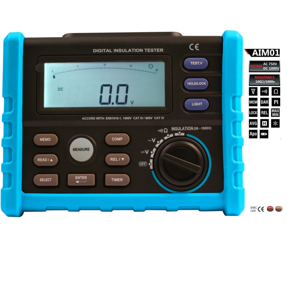 Bside Aim01 50 1000v Digital Insulation Tester Multimeter Ac Buy Circuit Testerelectrical Testerac Dc Voltage Continuity Discharge