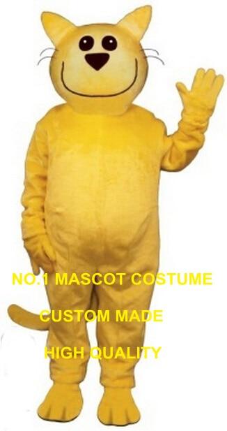 Smug Cat mascot costume wholesale hot sale cartoon smile yellow cat theme anime cosplay costumes carnival fancy dress kits 2785