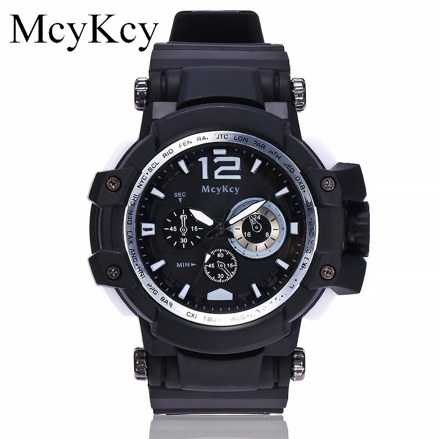 McyKcy Brand Watch Men Luxury Fashion Military Quartz Wristwatches Casual Male Sports Watch Clock Relogio Masculino Hot Sale