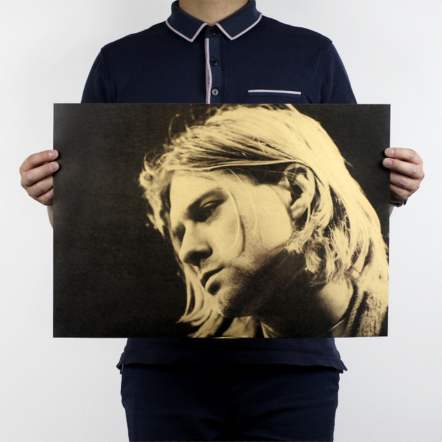 2017 Nirvana Kurt Cobain Rock Bar Decorative Painting Posters Kraft ...