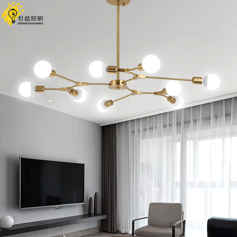 post-modern atmosphere living room chandelier designer simple personality restaurant bedroom branch molecular lampspost-modern atmosphere living room chandelier designer simple personality restaurant bedroom branch molecular lamps