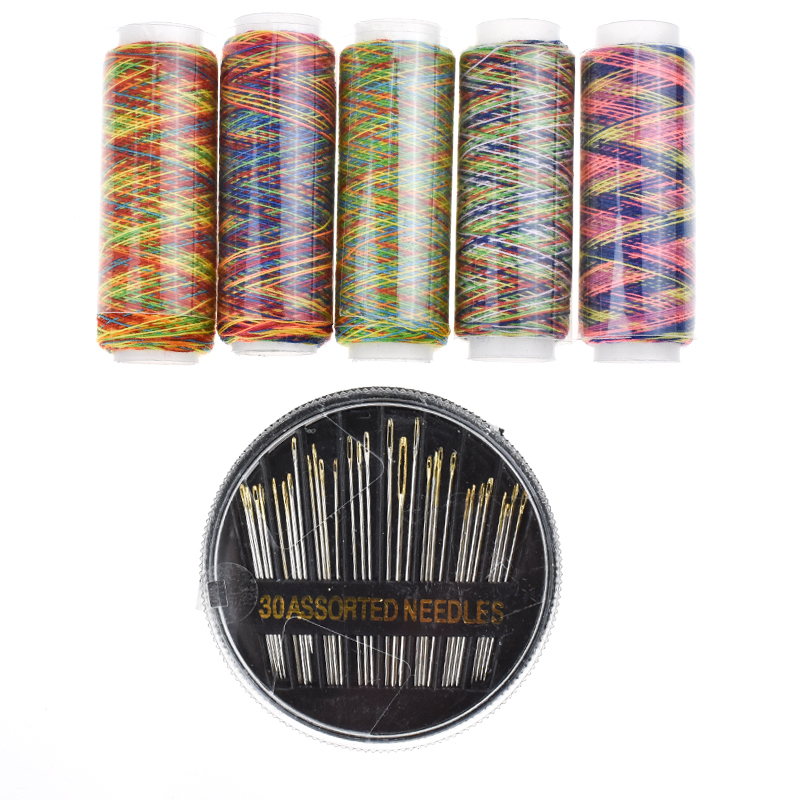 Looen Brand 6pcsSet Colorful  Sewing Threads and Sewing Needles For Women Embroidery Tools DIY Craft Tools Sewing Accessories (2)