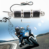 MVPower Motorcycle Bluetooth Audio Sound System MP3 Player FM/AM Radio Stereo Speakers Waterproof Motorbike Speaker Silver MT487