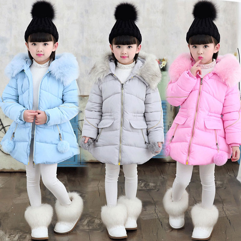 Winter teenage girl child clothing coats long fur color cotton-padded jacket for girls kids clothes outfits thick jacket parkas linenall women parkas loose medium long slanting lapel wadded jacket outerwear female plus size vintage cotton padded jacket ym