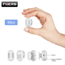 Fuers Wireless Mini PIR Motion Sensor Detector With magnetic swivel base Alarm system anti-theft equipment For Home Alarm System стоимость
