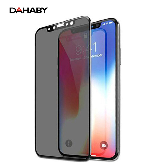 wholesale dealer cc063 a62ba US $6.63 |DAHABY For iphone X Privacy Anti Glare Matte Full Coverage  Tempered Glass Screen Protector For iphone X Frosted Protective film-in  Phone ...