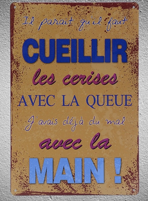 1 pc Kitchen quotes cooking french France Tin Plate Sign wall plaques cave Decoration Dropshipping metal Poster