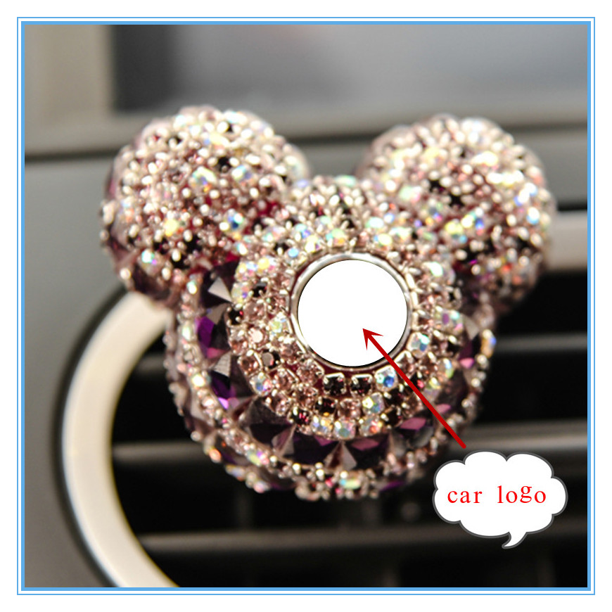 Mr Thee Luxe Auto Logo Auto Vent Luchtverfrisser Parfum Clip Figuur Auto Interieur Diamant Decoratie Speelgoed Accessoires