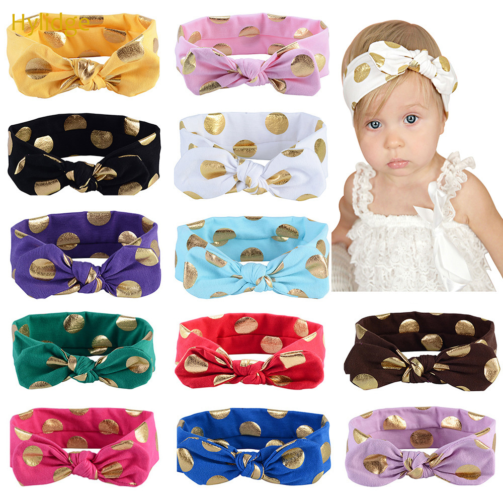 UK Kids Baby Girls Knot Rabbit Turban Headband Bow Head Wrap Hairbands Gifts TAX