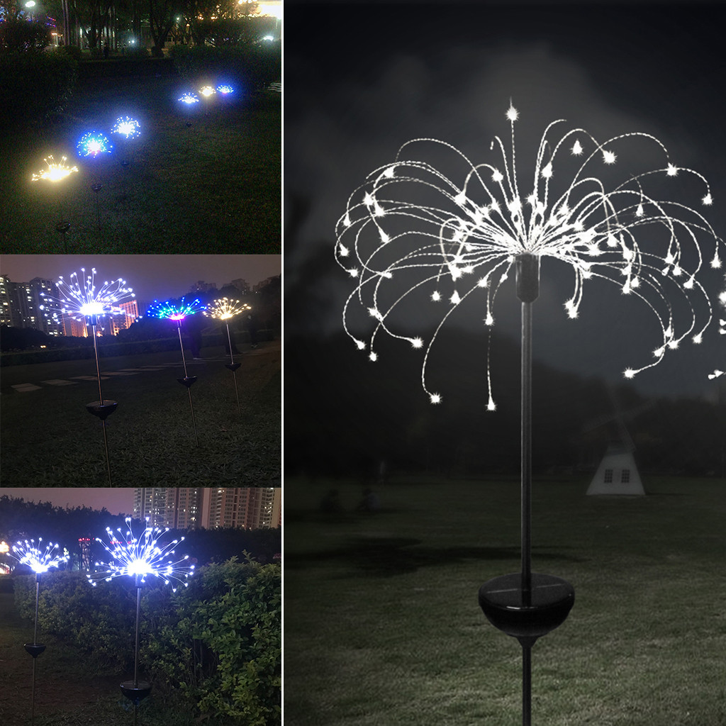 90LED 1 set solar power lawn light Solar power garden light Christmas Lights Outdoor fireworks