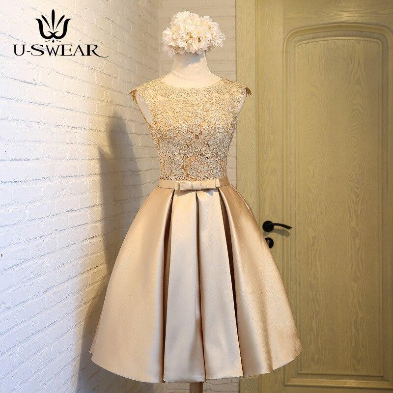 U-SWEAR 2019 новые сексуальные платья невесты o-образным вырезом без рукавов кружева Lllusion короткий тонкий Свадебная Вечеринка Вечерние платья De