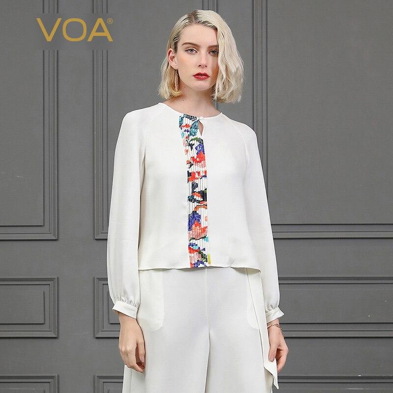 VOA blanc Harajuku Kawaii pull T Shirt haut pour femme za * a mujer manches longues Tee vetement femme dames chemises printemps décontracté B860