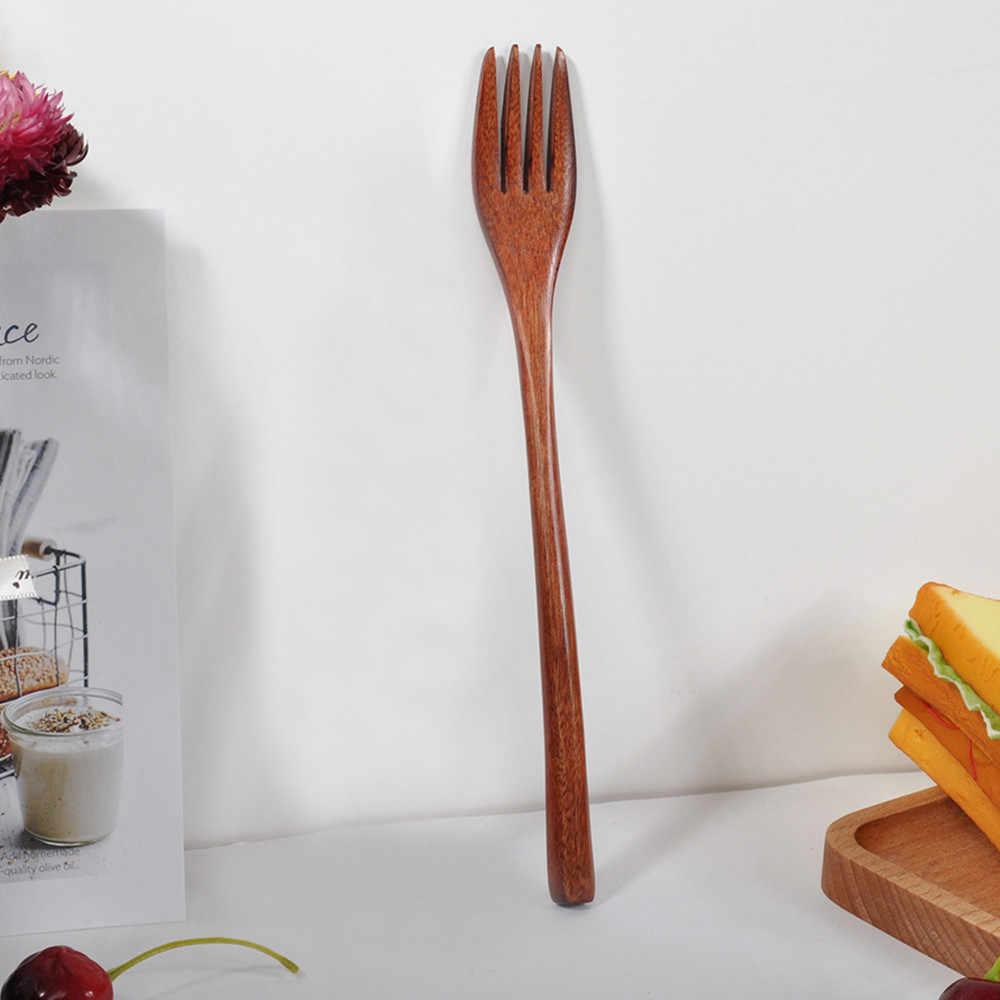 Acessórios de cozinha De Madeira Punho Longo Garfo Cucharas Bambu Utensílio De Cozinha que cozinha Ferramentas-Sopa Colher De Chá Talheres Cuillere