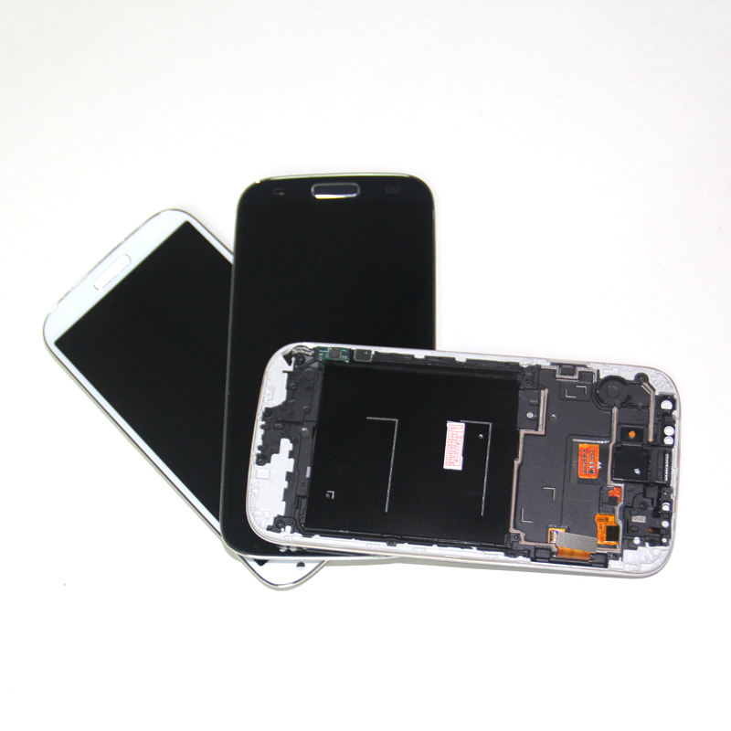 Highscreen I9505 LCD Display For Samsung S4 Screen For Samsung Galaxy S4  LCD GT I9505 I9500 I337 LCD Digitizer With Frame Blue