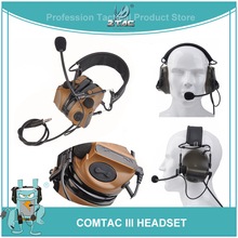 Z Tac Airsoft Tactical Aviation Peltor Comtac III Military Headset Noise Canceling Active Hunting/shooting PTT Headphones Z051 цена 2017