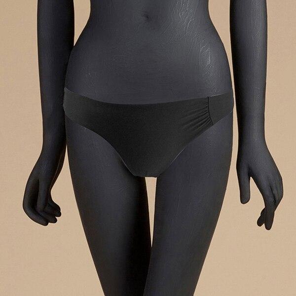 M& M 12 цветов, Раздельный купальник из двух частей, сексуальный купальник с низкой талией, женские одноцветные плавки, бразильские Плавки бикини - Цвет: Черный