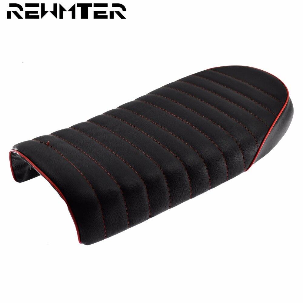 Siège de course de café de traqueur de Style plat noir et rouge de moto pour honda CB CL GN CB500 CB750 SR400 rétro café Racer