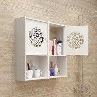 DIY Milti Use Organizer Objects Makeup Cosmetics Storage Box Bathroom Counter Storage Non drilling Wall Mounted Hanging Shelf