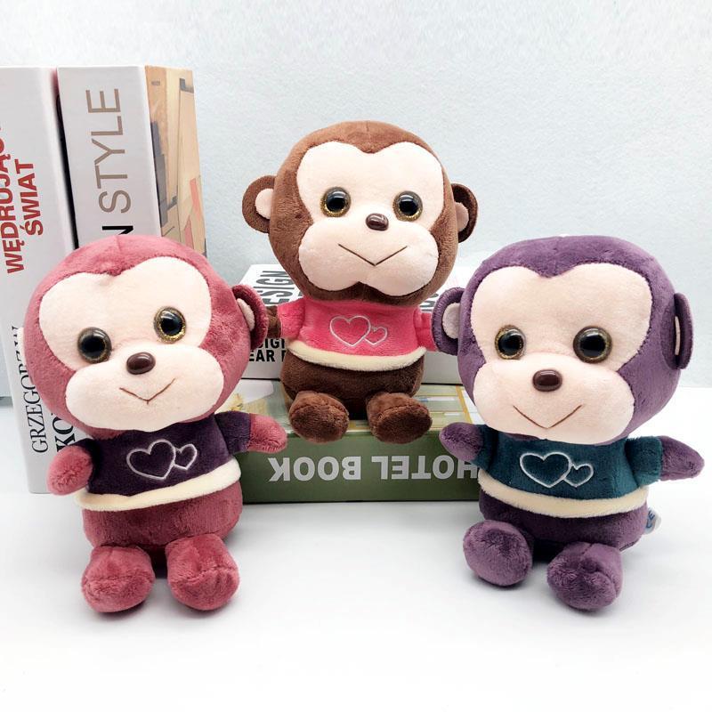 1 Stück 20 Cm 4 Farbe Schöne Monkeys Stopften Plüschtiere Große Affe Tier Puppen Weiche Plüsch Spielzeug Für Kinder Mädchen Geburtstag Weihnachten Geschenke Auf Der Ganzen Welt Verteilt Werden