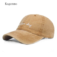 Kagenmo Washed Cotton Retro Baseball Cap For Men Fitted Cap Snapback Hat For Women Gorras Casual Casquette Embroidery Letter Cap