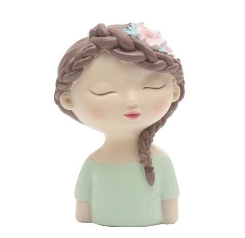 Moule Silicone garçon et fille avec feuilles fleur avatar fait à la main tête d'ange fondant gâteau décoration argile résine arôme pierre moule - 2