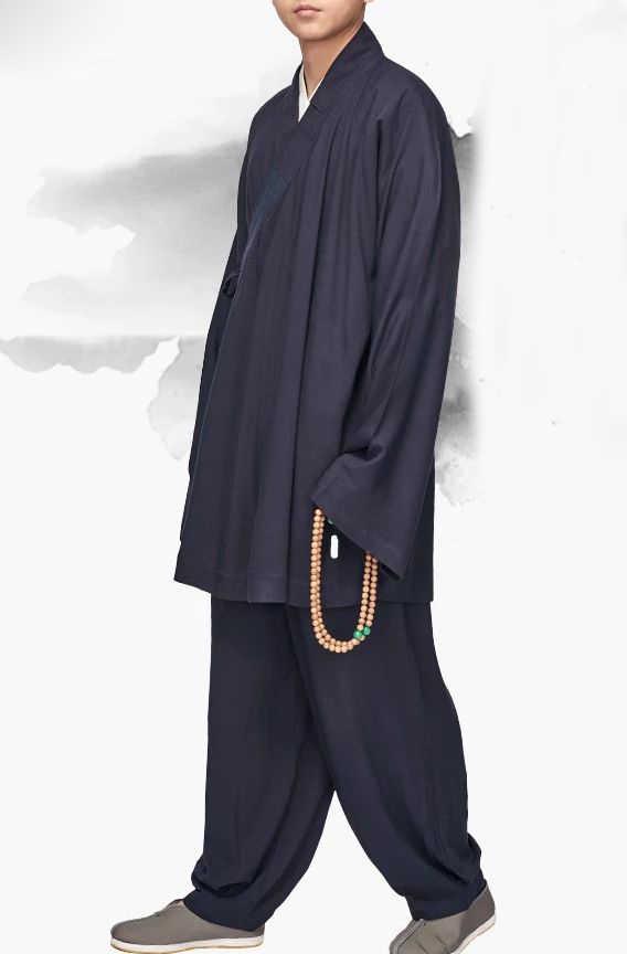 ユニセックス夏 & 春ローハン羅漢制服カンフー武術服禅レイ仏教少林寺僧侶のスーツ