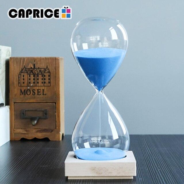1 stunde sanduhren holz basis sanduhr kristall glas. Black Bedroom Furniture Sets. Home Design Ideas