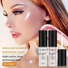 Surligneur de maquillage pour le visage, haute luminosité, couché, ver à soie, éclaircissant, ombre à paupières liquide, fond de teint, correcteur durable