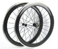 Free Shipping Carbon Road Bike Clincher Wheel 60mm Alloy Brake Surface With OEM Decal For Sale