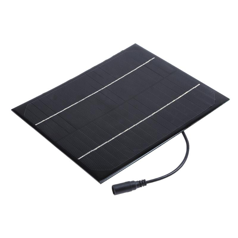 6W 18V Solar Power Panel Monocrystalline DC Output Battery Charging Board for Low Power Appliance Lighting