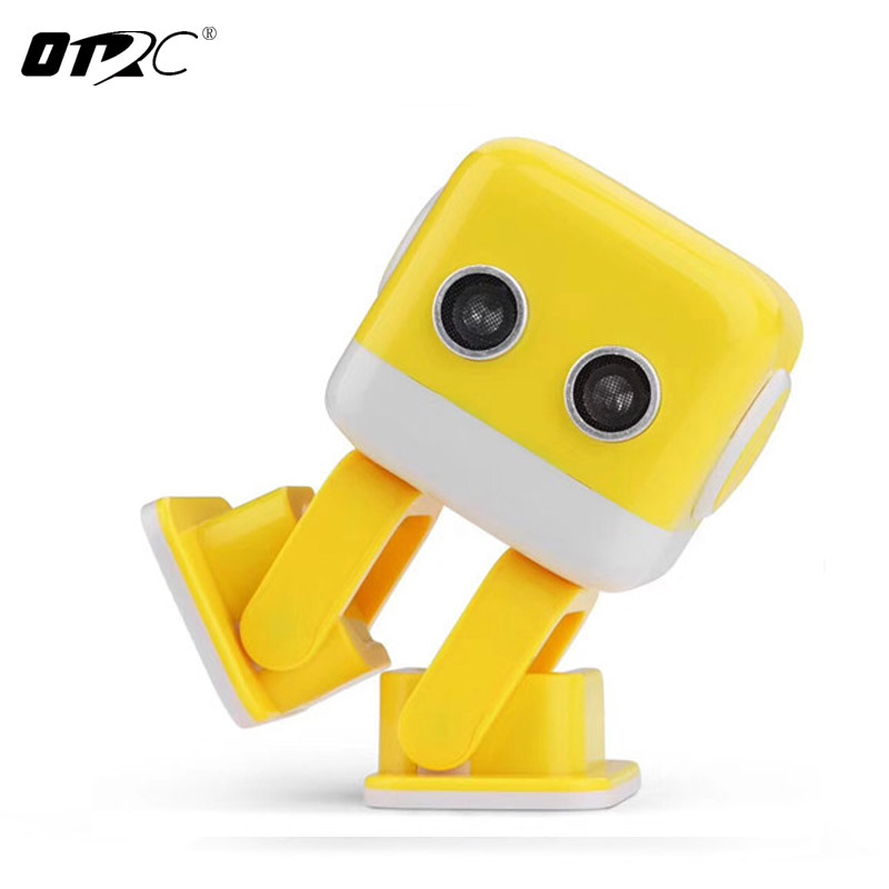 OTRC WLtoys F9 Cubee APP Control Intelligent Dancing Gesture RC Robot RTR - Yellow/Blue toy robot gift for kids