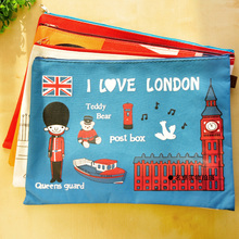 Оксфорд A4 Организатор Бумага держатель Бумага сумка файла канцелярские принадлежности документ я люблю Лондон, Великобритания