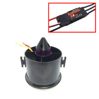 QX MOTOR 70mm 6 Blades Ducted Fan EDF With 2839 3200KV Motor Brushless With 50A esc For RC Airplane Model Parts