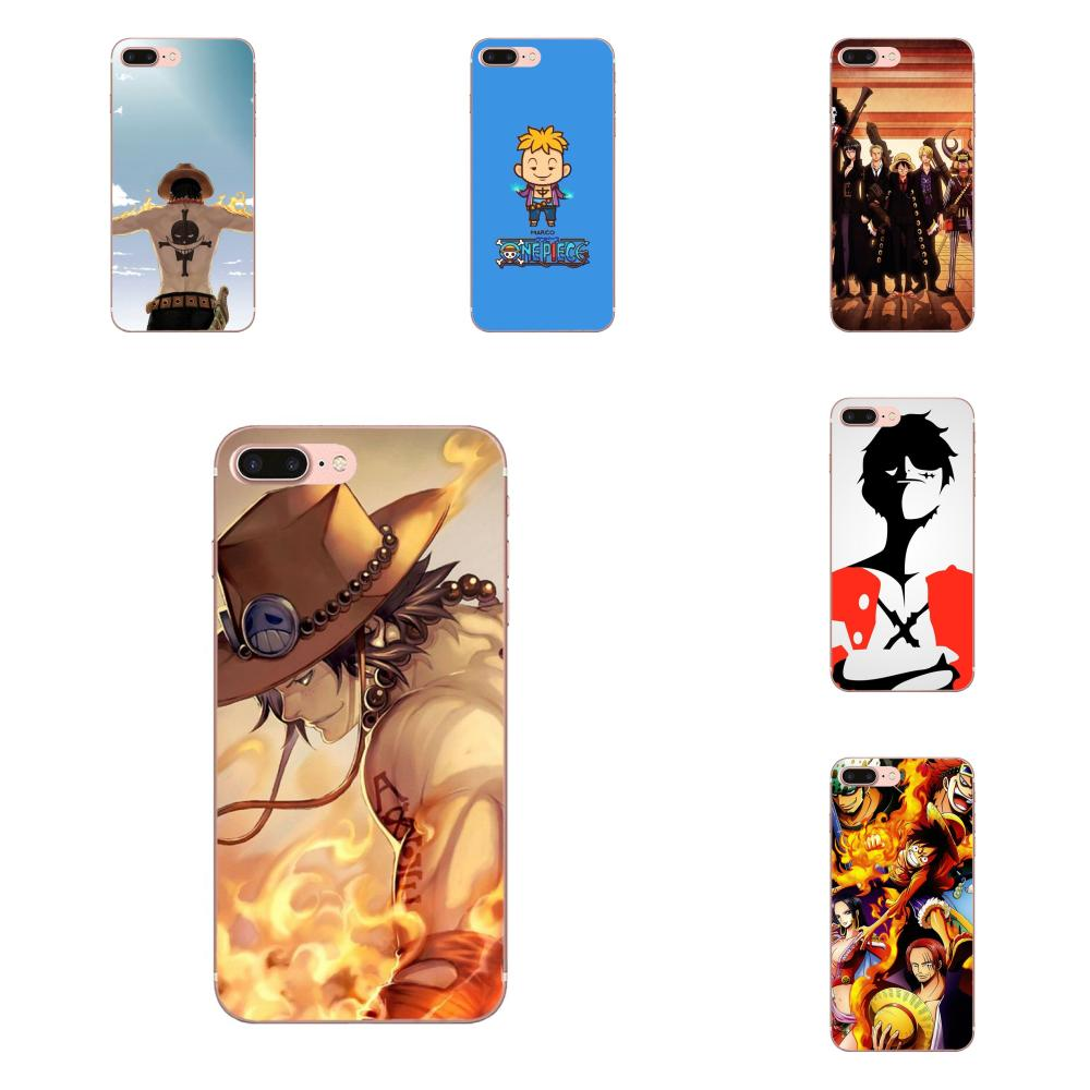 One Piece Original Soft Capa Coque For Apple iPhone 4 4S 5 5C 5S SE 6