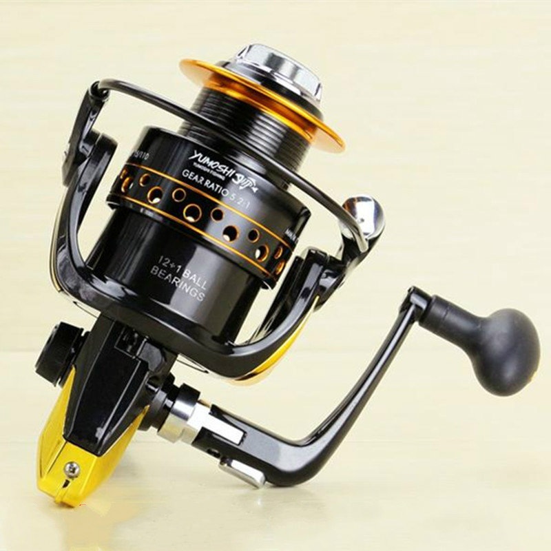 Rocker arm Left and right swap metal rocker spinning reel fishing gear 3bb ball bearings left right interchangeable collapsible handle fishing spinning reel se200 5 2 1 with high tensile gear red