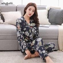 Whoholl Pajamas For Women Satin Women Pajamas Sets