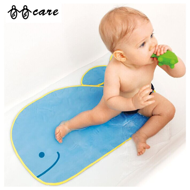 Baby Whale Shaped Bath Mat with Suction Cups