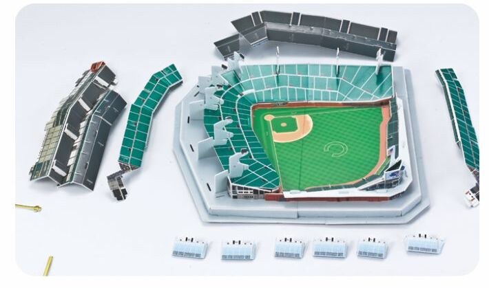 db68def521b Amusing 3D Puzzle Stadium Model MajorLeagueBaseball MLB Chicago Cubs Home  Wrigley Field Stadium Paper Model Toys Decoration-in Puzzles from Toys    Hobbies ...