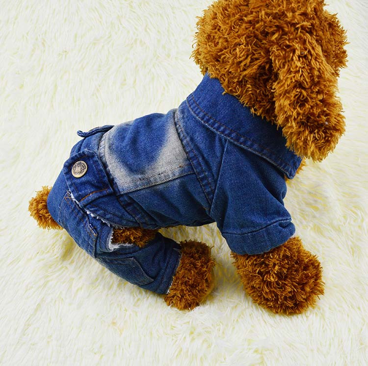 Thick Winter Pet Jeans Clothes Dog Coat Jumpsuit Overalls For Small and Large Dogs High Quality Dog Jeans Apparel Factory Outlet6